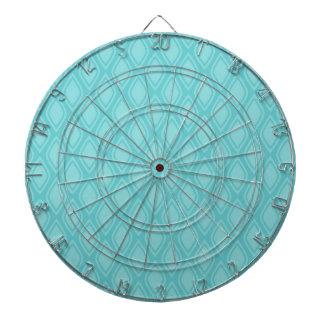 Teal Blue, Turquoise, Vintage Look Dart Board
