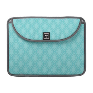Teal Blue Turquoise Vintage Look Sleeve For MacBook Pro