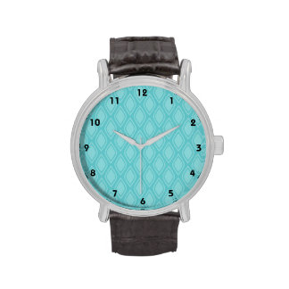 Teal Blue Turquoise Vintage Look Wristwatch