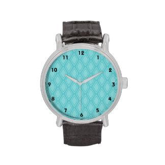 Teal Blue Turquoise Vintage Look Wristwatch