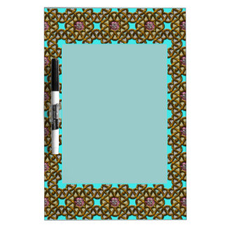 Teal Decorated Frame Dry-Erase Whiteboards