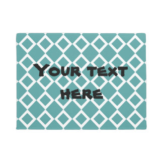 Teal Diamond Doormat