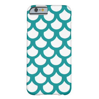 Teal Fish Scale 1 Barely There iPhone 6 Case