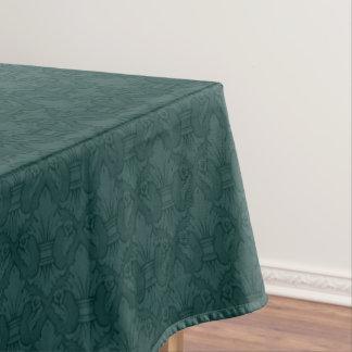 Teal Fleur-de-lis Pattern Tablecloth