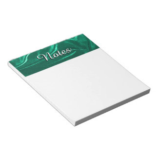 Teal Green Velvet-like Fabric Photo 09 Notepad