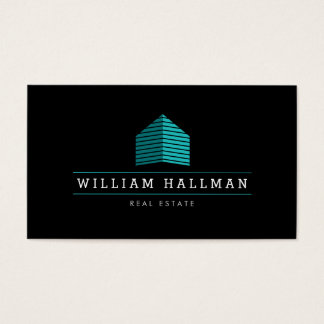 Teal Home Logo 3 Builder Real Estate Business Card