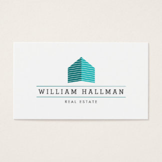 Teal Home Logo Builder Real Estate Business Card