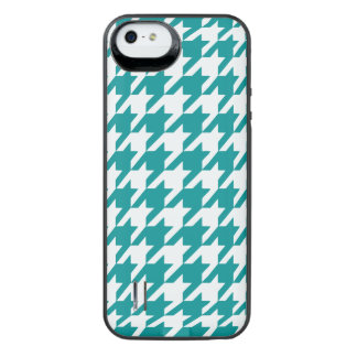 Teal Houndstooth 1 iPhone SE/5/5s Battery Case