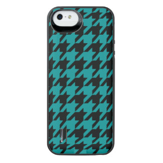 Teal Houndstooth 2 iPhone SE/5/5s Battery Case
