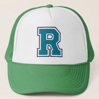"Teal Initial ""R"" Trucker Hat"