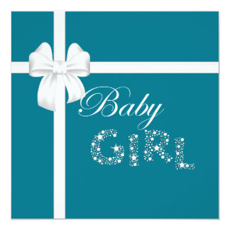 Teal Island Treasures Baby Girl Personalized Invite