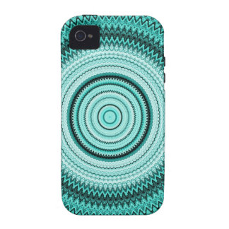 Teal Kaleidoscope Vibe Case For The iPhone 4