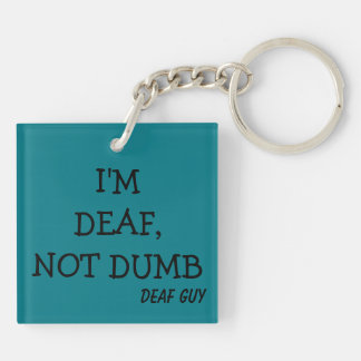 Teal Key-Chain, printed Double-Sided Square Acrylic Key Ring