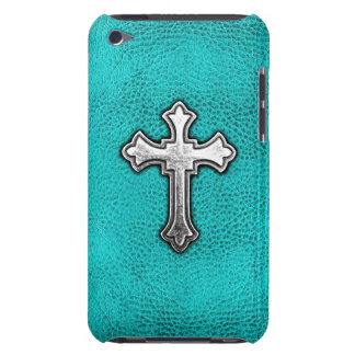 Teal Metal Cross iPod Case-Mate Case