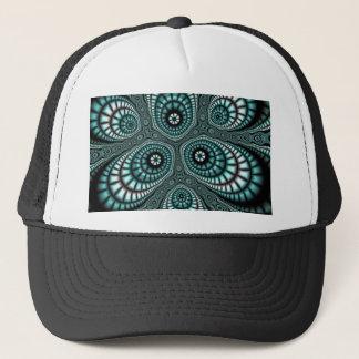 Teal Mosaic Fractal Trucker Hats