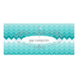 Teal Ombre Chevron : Gift Certificate Full Color Rack Card