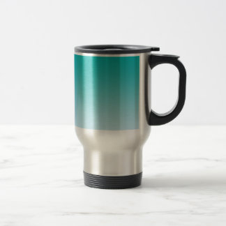 Teal Ombre Stainless Steel Travel Mug
