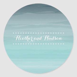 Teal Ombré Wedding Sticker