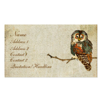 Teal  Owl Business Card/Tags Pack Of Standard Business Cards
