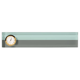 Teal Pink Gray Stripes Pattern Name Plates
