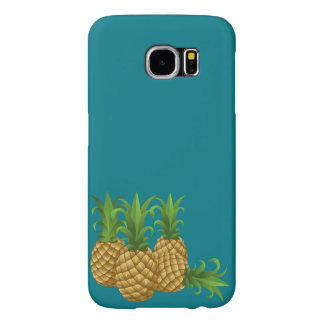 Teal Retro Vintage Pineapple Samsung Galaxy S6 Cases