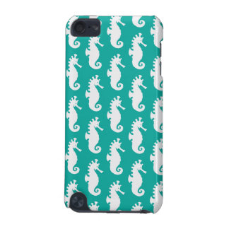 Teal Seahorse Pattern 1 iPod Touch (5th Generation) Cover