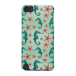 Teal Seahorse Pattern 2 iPod Touch (5th Generation) Cover
