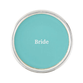 Teal Sky Bride Lapel Pin