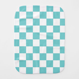 Teal Sky Checkerboard Burp Cloth
