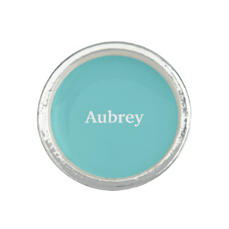 Teal Sky Personalized Ring