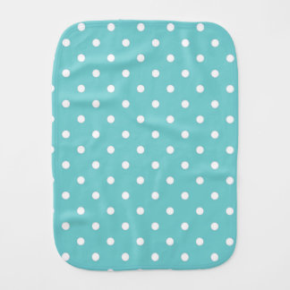 Teal Sky Polka Dot Burp Cloth