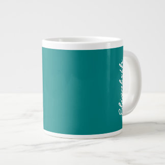 Teal Solid Color Large Coffee Mug