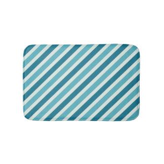 Teal Stripe Pattern (1) Bath Mats