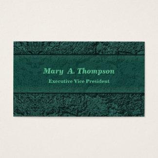 Teal Stucco Texture Business Card