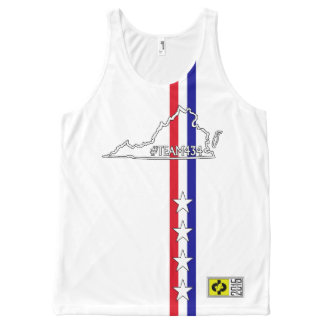 #TEAM434 - PHASE II USA All-Over PRINT SINGLET