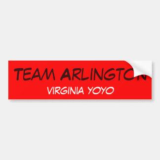 Team Arlington virginia yoyo Bumper Sticker