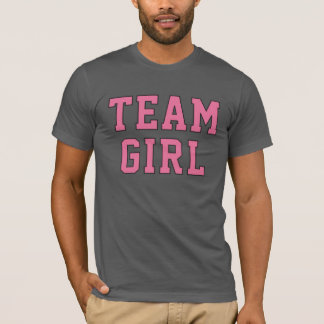 Team Baby Girl | Men's Pink and Gray Shirt