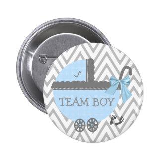 Team Boy-Baby Shower 6 Cm Round Badge