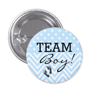 Team Boy Blue Baby Shower 3 Cm Round Badge