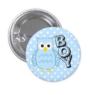 Team Boy Owl Baby Shower 3 Cm Round Badge