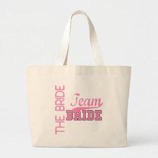 Team Bride 1 BRIDE Large Tote Bag