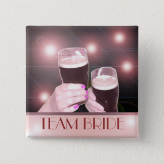 Team Bride Bachelorette Party Fancy Pinback Button