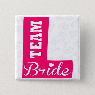TEAM BRIDE,bachelorette party,hen party 15 Cm Square Badge