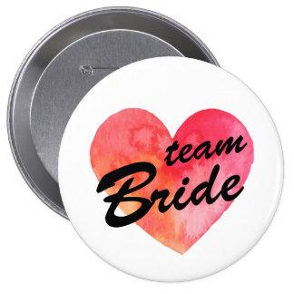Team Bride Badge | watercolor heart