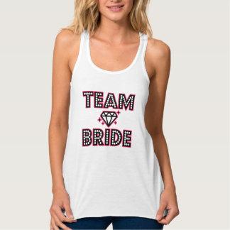 Team Bride Bridesmaid funny women's Bachelorette Flowy Racerback Tank Top