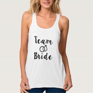 Team Bride Bridesmaid Flowy Racerback Tank Top