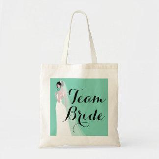 Team Bride Brunette Bride Tote Bag