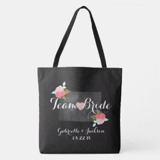 Team Bride Colorado State Wedding Bridesmaid Tote Bag