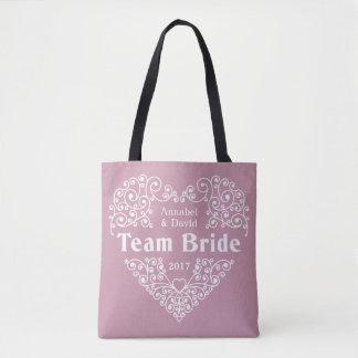 Team Bride custom names & year wedding bags