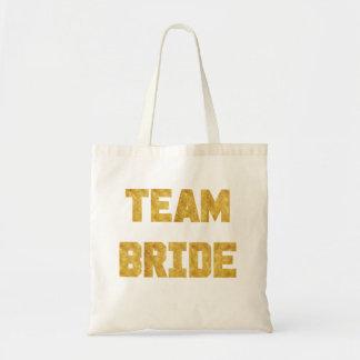 Team Bride Gold Foil Bridesmaid Tote